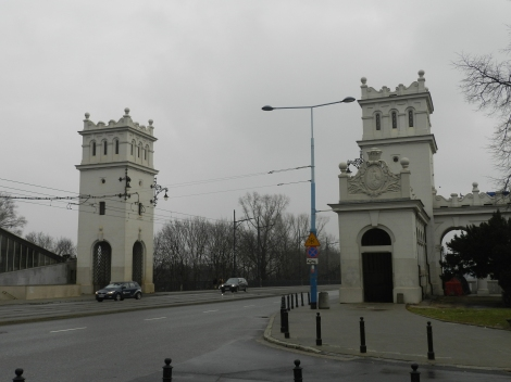 Poniatowski Bridge, the site of an important battle during the Warsaw Rising