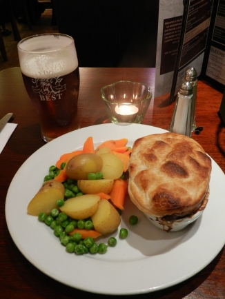steak pie and Caledonia Best